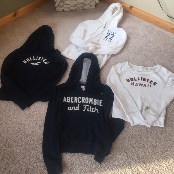 43cf09bbae3da Hollister and Abercrombie and Fitch Tops - Lot of 4 Hollister and  Abercrombie sweatshirts